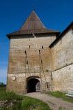 Porta velha da fortaleza Fotos de Stock