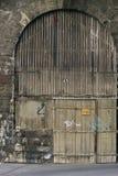 Porta velha da garagem (3113a) Imagens de Stock Royalty Free