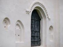 Porta velha da igreja Imagens de Stock