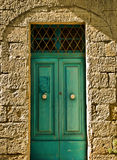 Porta velha de Aquamarine fotografia de stock royalty free