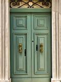 Porta velha de Aquamarine fotografia de stock
