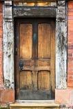 Porta velha do carvalho. Fotos de Stock