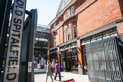 Porta velha do mercado de Spitalfields. Fotos de Stock Royalty Free