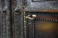 A porta velha do metal Fotos de Stock