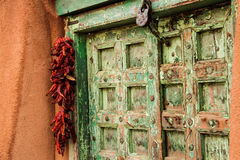 Porta velha em Santa Fe Imagens de Stock