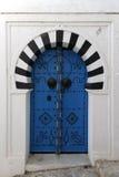Porta velha em Sidi Bou Said Foto de Stock