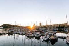 Porta Vell, Barcellona Fotografia Stock Libera da Diritti