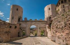 Porta Venere, miasta Romański łuk w Spello brama obraz royalty free