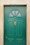 Porta verde Immagini Stock Libere da Diritti
