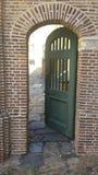Porta verde Immagini Stock