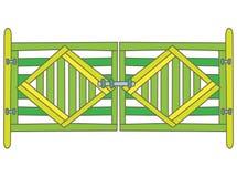 Porta verde ilustração royalty free