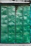 Porta verde do metal Fotografia de Stock Royalty Free