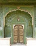 Porta verde, palácio da cidade, Jaipur Fotografia de Stock
