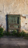 Porta verde velha Fotografia de Stock