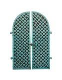 Porta verde velha do ferro Imagem de Stock Royalty Free