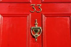 Porta vermelha Imagem de Stock Royalty Free