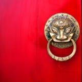 Porta vermelha chinesa Fotos de Stock