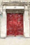 Porta vermelha clássica ilustração do vetor