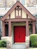 Porta vermelha da igreja Imagens de Stock
