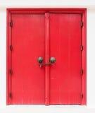 Porta vermelha do lanna Fotos de Stock Royalty Free
