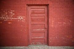 Porta vermelha largamente Foto de Stock