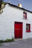 Porta vermelha velha Foto de Stock Royalty Free