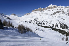 Porta Vescovo ski aea and Piz Boe', Arabba Royalty Free Stock Images