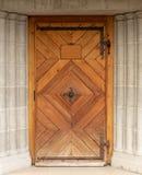 Porta woodcut Di legno vecchio entrata fotografie stock libere da diritti