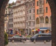 Portaal in sendlinger-piek-Platz stock foto's