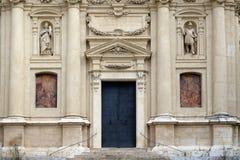 Portaal van St Catherine kerk en Mausoleum van Ferdinand II, Graz Stock Afbeeldingen