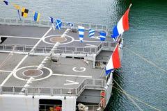 Portaaviones holandés de la marina imagen de archivo libre de regalías