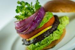 Portabello hamburger Zdjęcie Royalty Free
