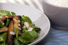 Portabello Mushroom Salad Royalty Free Stock Image