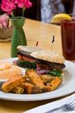 Portabello mushroom sandwich Royalty Free Stock Photography