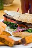 Portabello mushroom sandwich Royalty Free Stock Photo