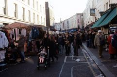 Portabello Road Market, London Royalty Free Stock Images