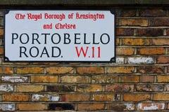 Portabello road sign Stock Photo