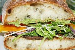 Portabello Sandwich Royalty Free Stock Photo