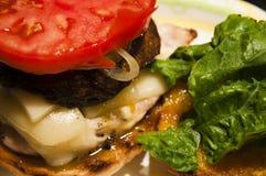 Portabello Sandwich Lizenzfreie Stockbilder