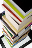 Portability. Of books within a tablet or e-reader Royalty Free Stock Image