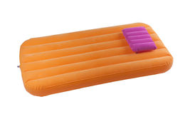 Portable air bed and pillow. For relax time or outdoor picnic Stock Image