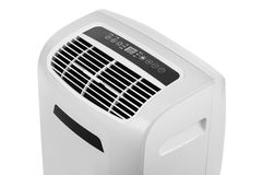 Portable air conditioner or dehumidifier isolated on white background Stock Image