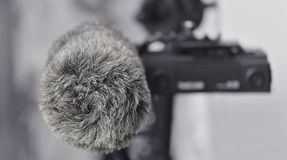 Audio recording solution for filmmakers. Linear PCM recorder Royalty Free Stock Image
