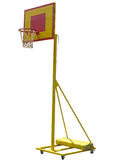 Portable basketball hoop board on white background Royalty Free Stock Photos