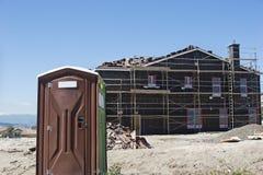 Portable Bathroom on Construction Site stock image