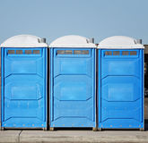 Portable bathroom toilets Stock Image