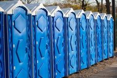 Portable bio toilet. Portable bio-toilet in the city park stock images