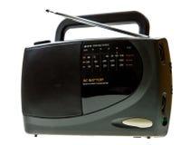 Portable black radio isolated on white. Background Stock Images