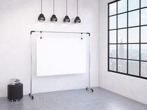 Portable board in the room Stock Photos