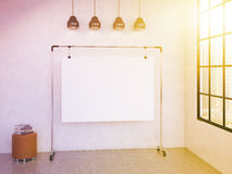 Portable board in the room Royalty Free Stock Image